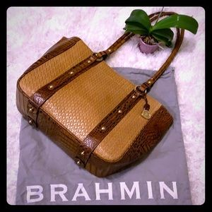 Pre-loved Brahmin Shoulder Tote 🐊